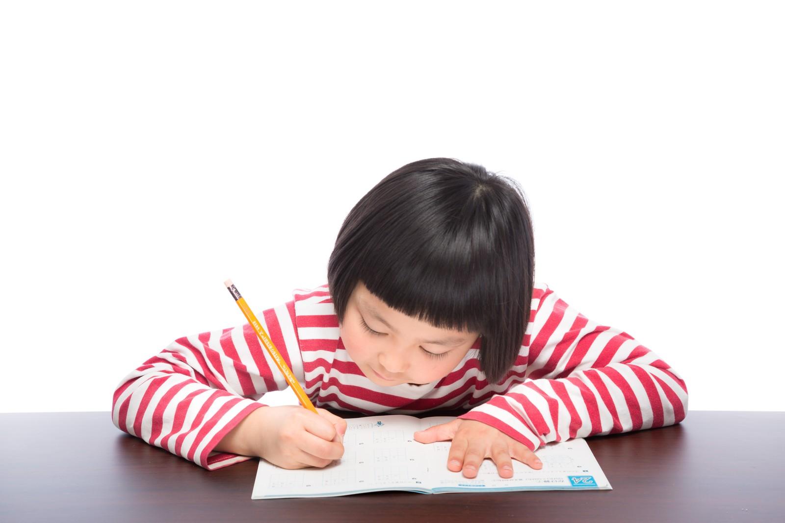 自由研究をする子供