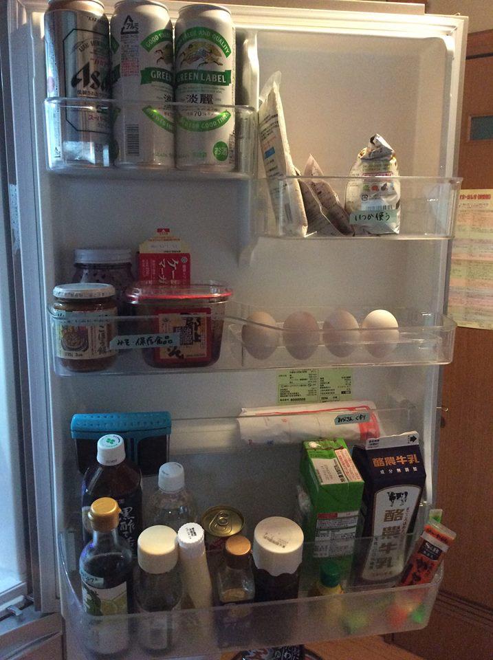 冷蔵庫の片付け