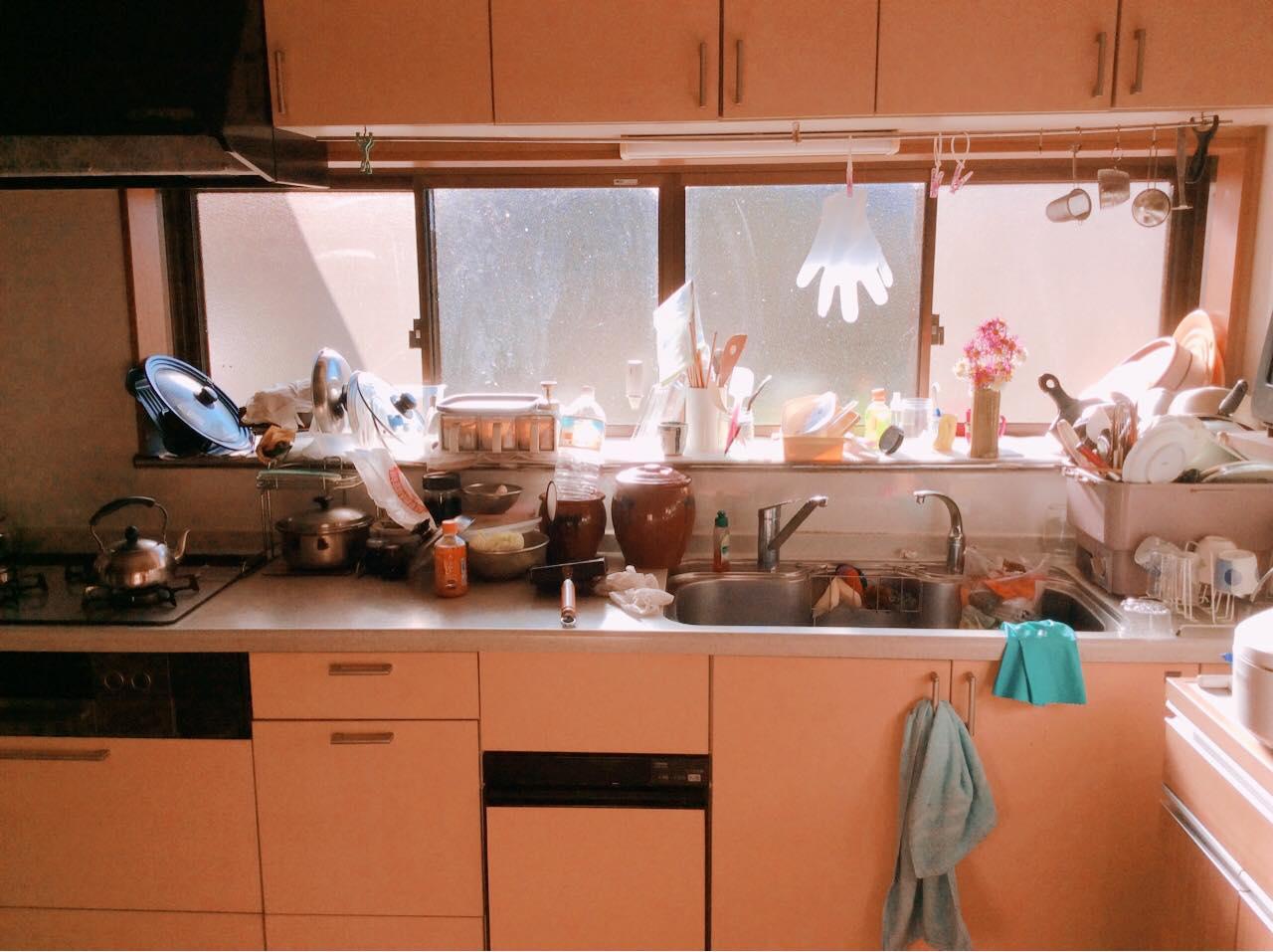 キッチンの片付け