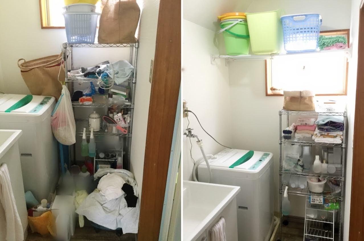 洗面所の片付け